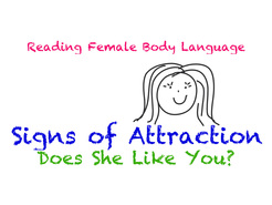 Body language signs that a girl likes you